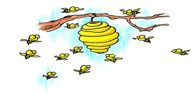قصة الدبور المخادع وخلية النحل